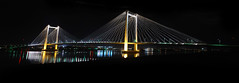 Pasco Cable Bridge (BHagen) Tags: longexposure bridge panorama architecture nikon columbiariver wa washingtonstate cablebridge nightexposure kennewick pasco tricities pascowa d80