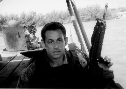 Sarkozy during the first Gulf war
