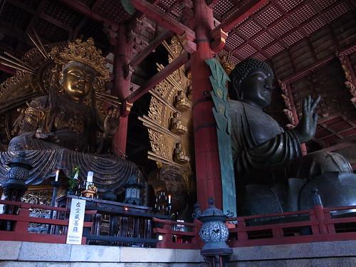 Daibutu with KokuzoBosatu in Daibutuden, Nara