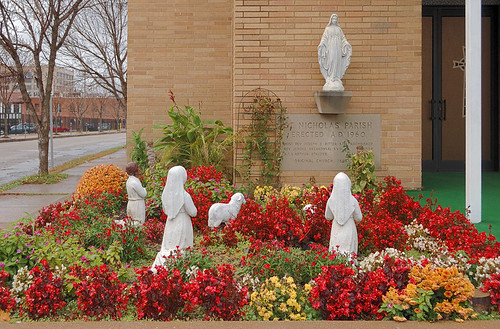 Saint Nicholas Roman Catholic Church, in Saint Louis, Missouri, USA - Marian garden