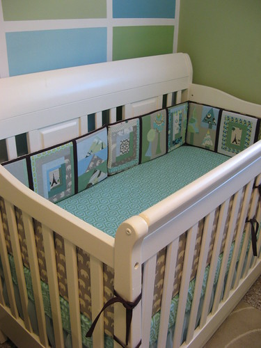 Baby room, crib and bumper
