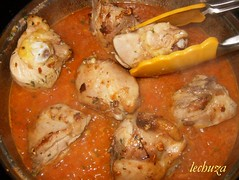 Pollo con cigalas-añadir pollo