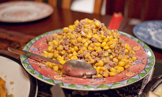 Corn with Ground Pork