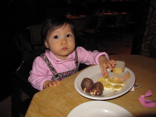 babychops at Cheesecake Factory