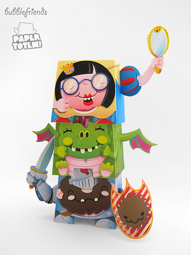 Paper Totem! x Bubblefriends