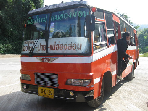 Our trusty bus on the ride to Pai