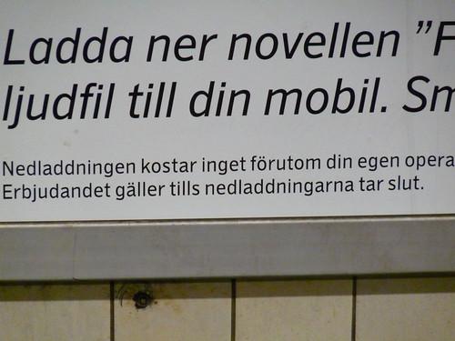 Affisch i Stockholms tunnelbana