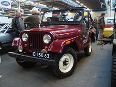1964 Kaiser Jeep CJ5 (Skitmeister) Tags: auto holland classic netherlands car truck utrecht fair oldtimer beurs lkw youngtimer vehikel skitmeister