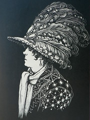 Wood cut? by Percy Smith Title 'The Pearly Queen' 1920s (Etchings Plus - playing on new smart phone!) Tags: smith woodcut percy pearlyqueen