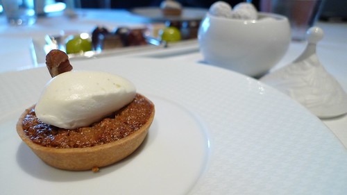 Pecan Tart with Creme Fraiche Chantilly