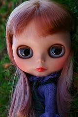 clyde (cybermelli) Tags: hair monkey doll skirt highlights overalls denim blythe custom rit dyed sbl squeaky svb squeakymonkey sundayverybest minklet blytherescuemission