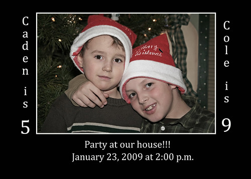 Caden & Cole's Birthday Invitation