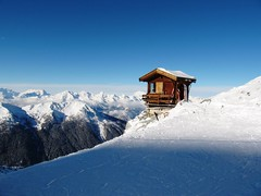 Verbier Cabin (chrisgandy2001) Tags: mountain snow ski mountains alps switzerland skiing hill snowboard alp verbier gettyvacation2010