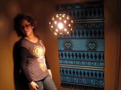 10/365 (Fuschia Foot) Tags: blue black lamp ceramic glasses design ecuador rachel tshirt tribal chain jeans hanging cyclone tapestry 365days