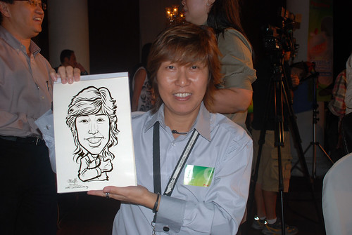 Caricature live sketching for GSK -10