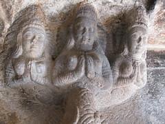 IMG_9171 (jaglazier) Tags: india art archaeology stone architecture buildings crafts traditional january cities stonecarving temples karnataka hindu shrines urbanism religions badami 2010 1510 southindian stoneworking aivalli
