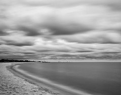 Empty Beach (Bruce Bordelon) Tags: white black blur beach gulfofmexico station 30 museum clouds nikon long exposure gulf florida air filter pro sliver d200 nikkor naval nas pensacola seconds density neutral efex 18135mm 10stop nd1000
