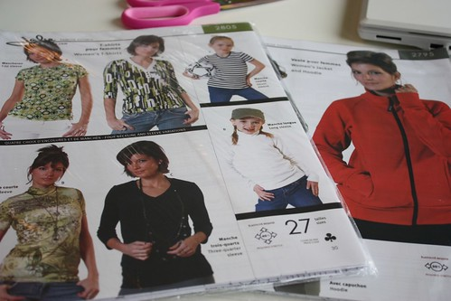 Jalie t-shirt and hoodie sewing patterns