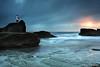 Fisherman @ Forresters Beach (-yury-) Tags: ocean sea sky cloud seascape beach water sunrise canon landscape coast fisherman rocks waves central australia nsw 5d forresters supershot abigfave karmapotd karmapotw