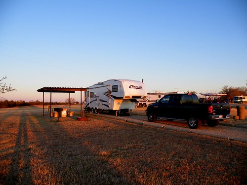 our campsite in Texas