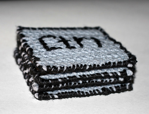 CTRL ALT DEL ESC Crochet Coasters