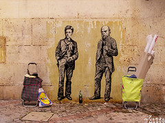 Rimbaud & Verlaine (. ilda) Tags: ilda rimbaud verlaine paste up street art rue collage painting drawing phmre ephemeral zilda paris france