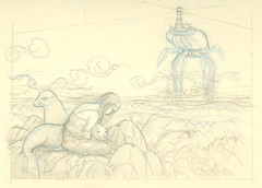 WIP Sea Lion Dream - Rough sketch