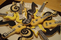 Guitar Cookies (Lala512) Tags: cookies guitar sugarcookies electricguitar trebleclef royalicing musicalnote