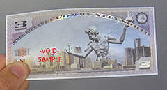 Detroit Cheer local currency note