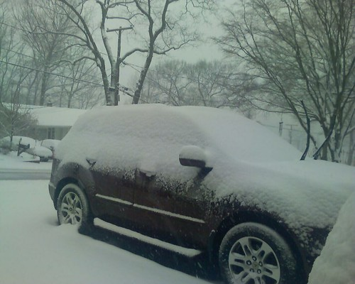 Spot the car! We have about 6 inches of snow now and more falling!
