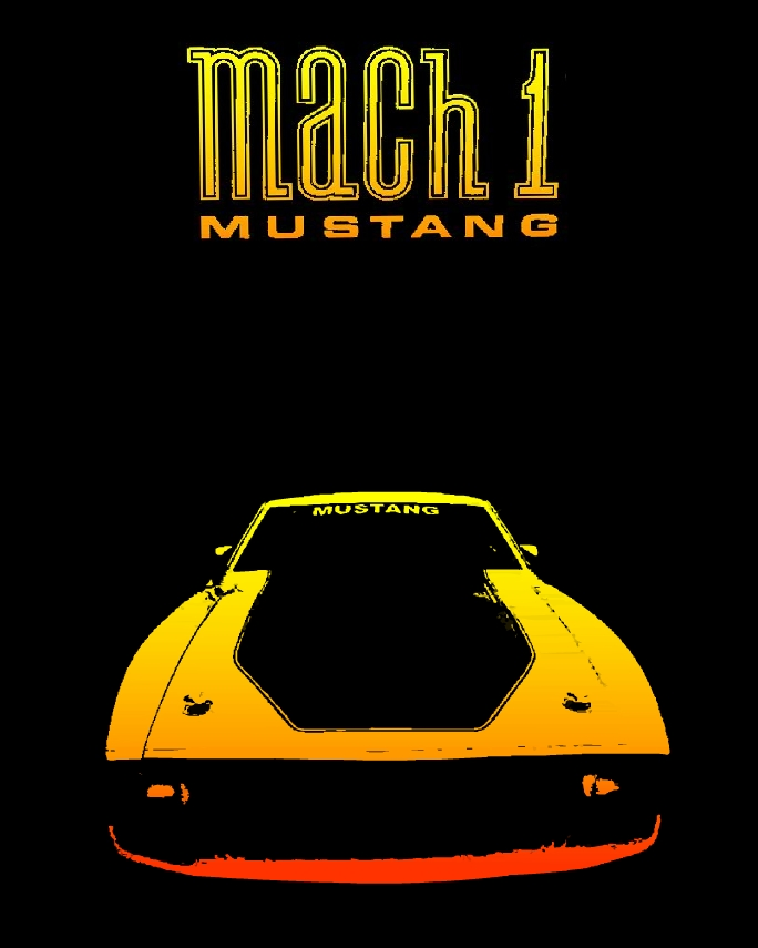 poster para imprimir del ford mustang mach 1 americano clasico