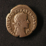 "<b>75 Obverse</b><br/> <a href=""http://en.wikipedia.org/wiki/Galba"" rel=""nofollow""><u><b>Galba</b></u></a> <i>Reign: AD68 - 69</i> Following Nero's suicide in AD68, Galba, a general, marched to Rome and proclaimed himself Caesar. His death in January of AD69 sparked the beginning of the Year of the Four Emperors. During the year, three other generals, Otho, Vitellius, and Vespasian all ""ascended to the purple."" The year ""L A"" indicates the coin was minted in the first year of his reign, or AD68.  Donated by Dr. Orlando ""Pip"" Qualley<a href=""http://farm3.static.flickr.com/2755/4351073233_db45612e72_o.jpg"" title=""High res"">∝</a>"