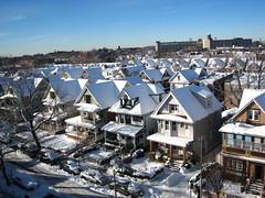 Looking down on East Third (florence wang) Tags: snow brooklyn kensington