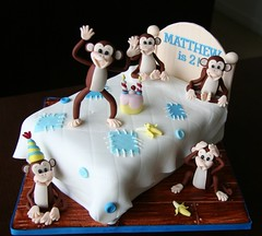 Five Little Monkeys jumping on the bed cake (Homebaked by Audrey) Tags: birthdaycake monkeycake fivelittlemonkeysjumpingonthebedcake