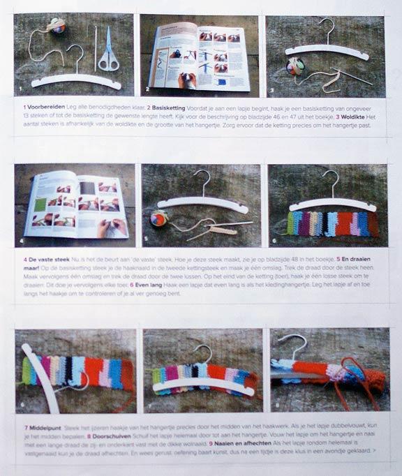 Wood & Wool Stool Crochet Hanger Tutorial