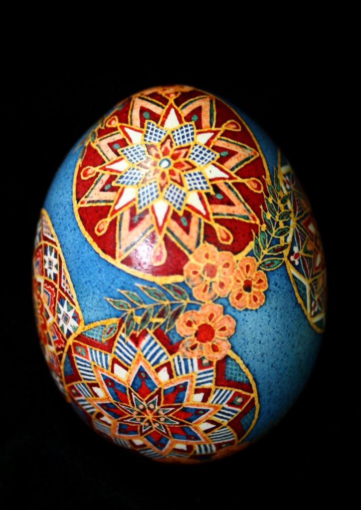 Ukrainian Egg in Circus colors