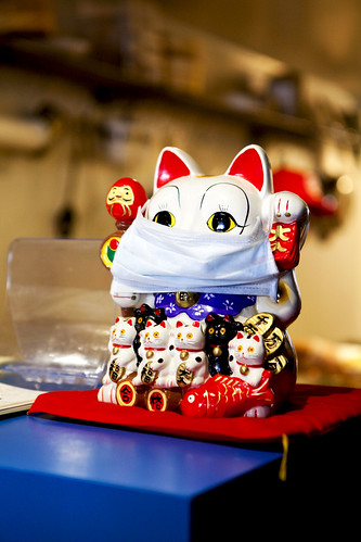 Strange way to display the Fortune Cat