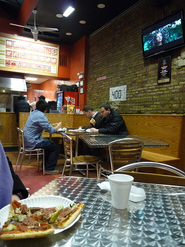 a pizza-by-the-slice joint on clark