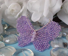 Handwoven Glass Bead Butterfly Pin (fivefootfury) Tags: silver butterfly insect spring wings pin purple handmade butterflies accessories wingedinsect butterflypin fivefootfury