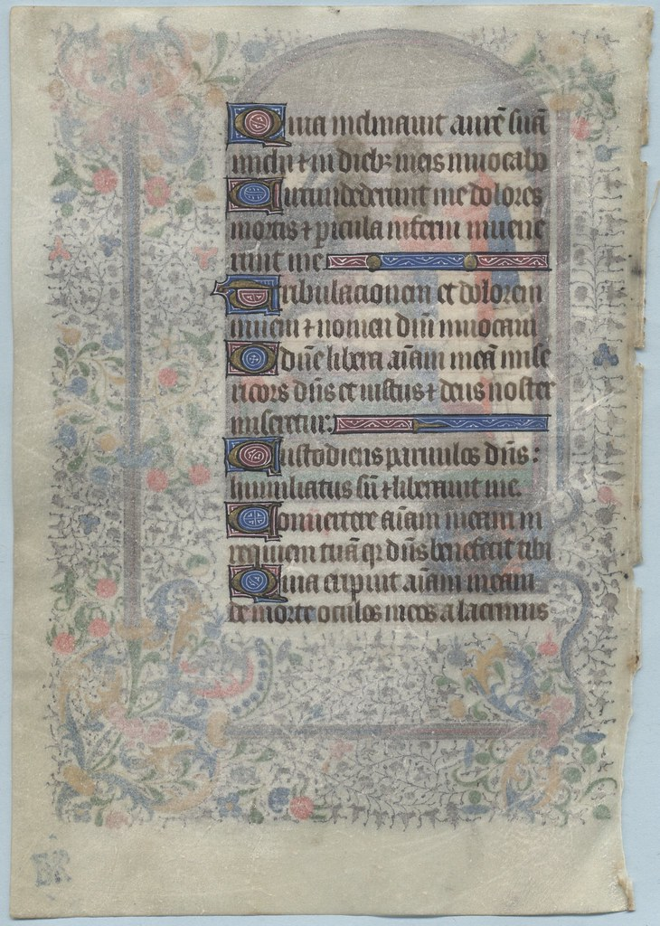 BOOK OF HOURS LEAF Ref 138 verso Office of the Dead