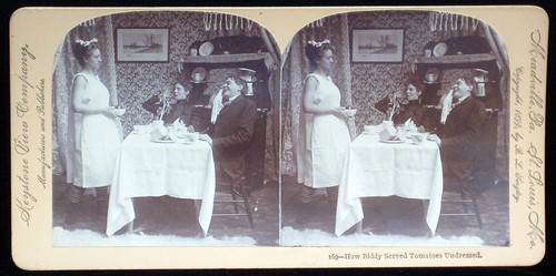 How Biddy Served Tomatoes Undressed. Keystone View Company. 1899