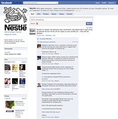 Nestl? censoring comment on FaceBook