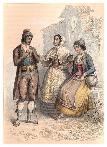 034-Vestimentas de Burgos-Salamanca-Santander-Voyage pittoresque en Espagne et en Portugal 1852- Emile Bégin