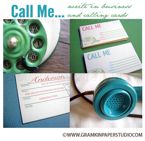 Write In Calling Cards New Product