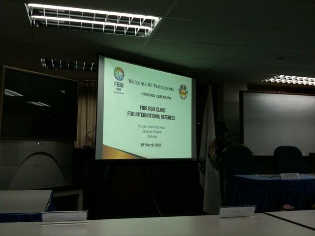 FIBA Asia Clinic for International Referees