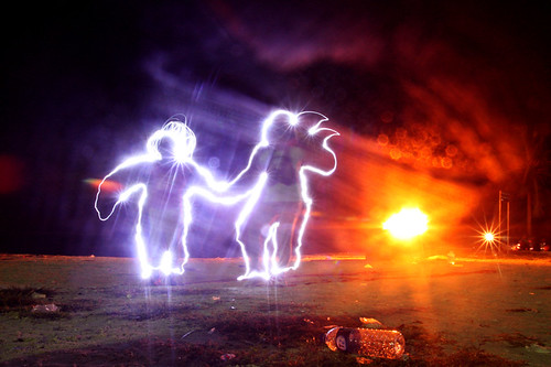 light painting...