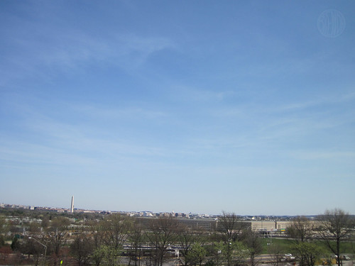 view over the Pentagon