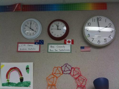 Classroom partner clocks (Maria Knee's classroom)
