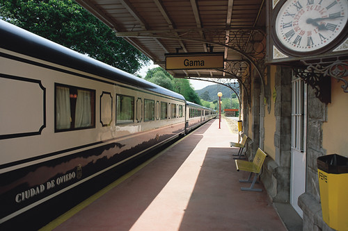 El Transcantabrico train at Gama station