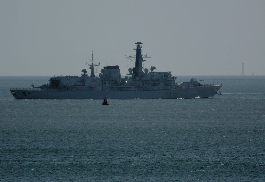 HMS Montrose (F236) in Plymouth Sound